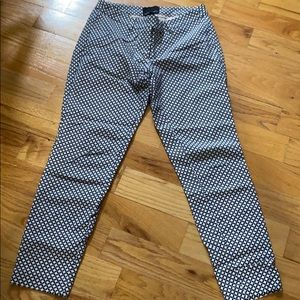 Cynthia Rowley cropped pants navy and white 2